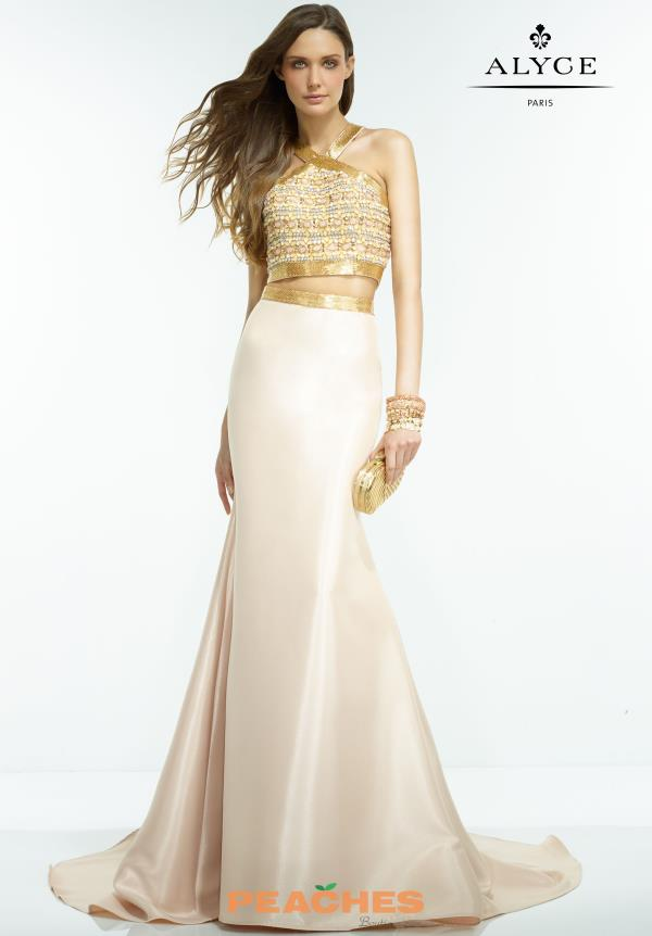 Two Piece Beaded Alyce Paris Dress 2565