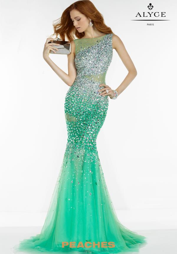 Alyce Paris Beaded Mermaid Dress 6525