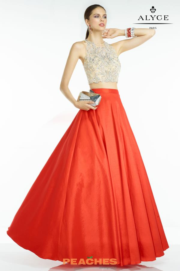 Taffeta A Line Alyce Paris Dress 6534