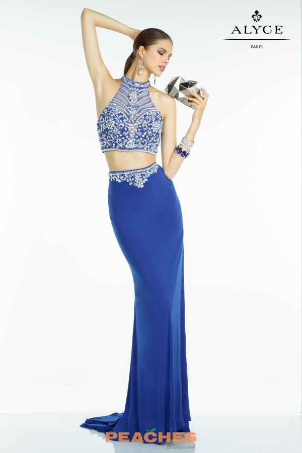 Fitted Two Piece Alyce Paris Dress 6548