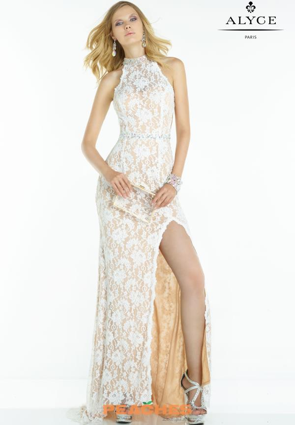 Alyce Paris Lace Fitted Dress 6549