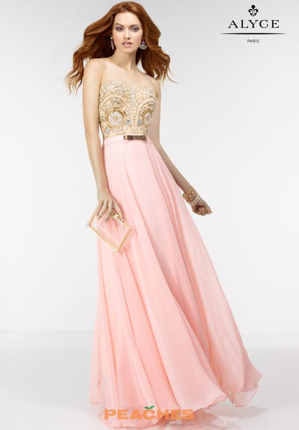 Long Beaded Alyce Paris Dress 6556