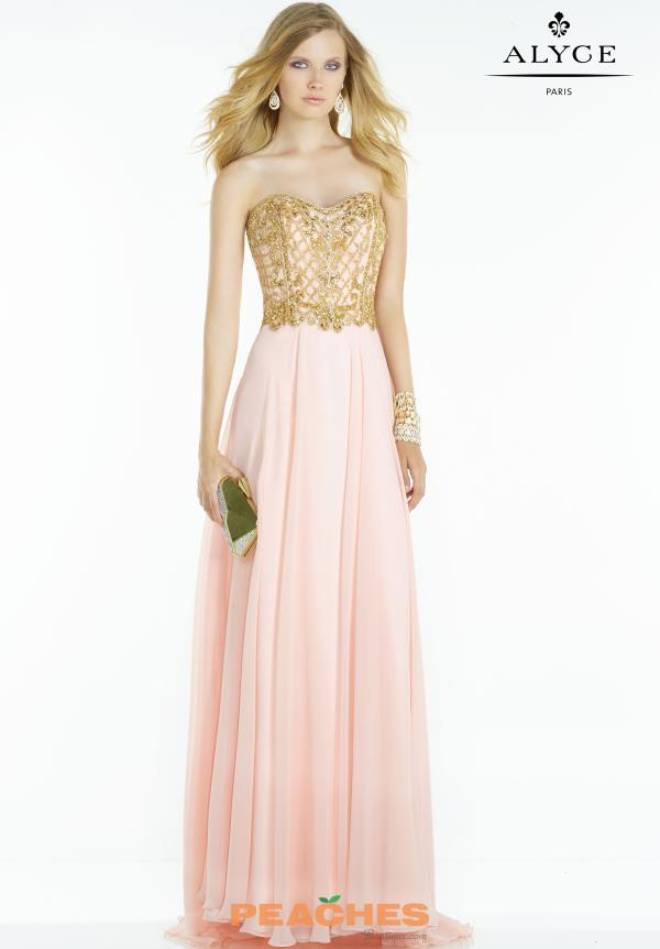 Alyce Paris Beaded Prom Dress 6575