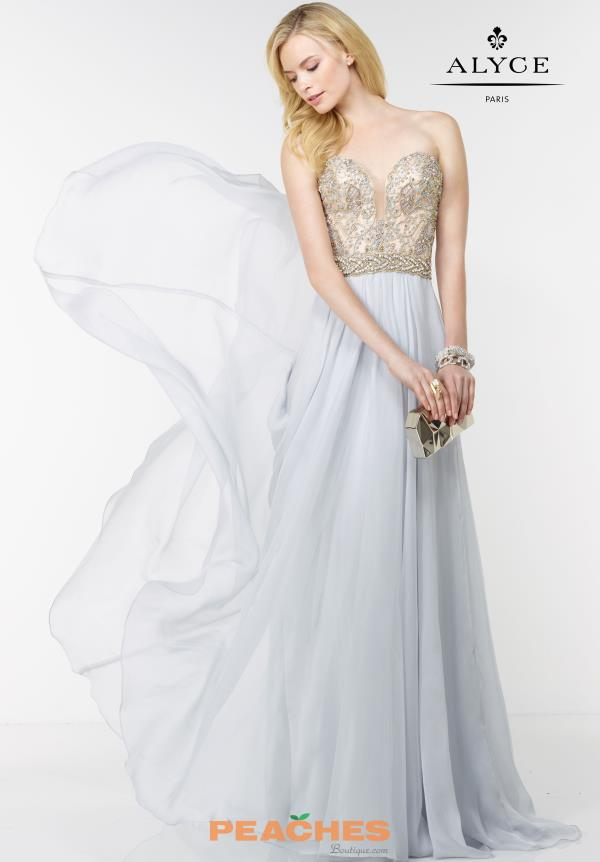 Sweetheart Beaded Alyce Paris Prom Dress 6595