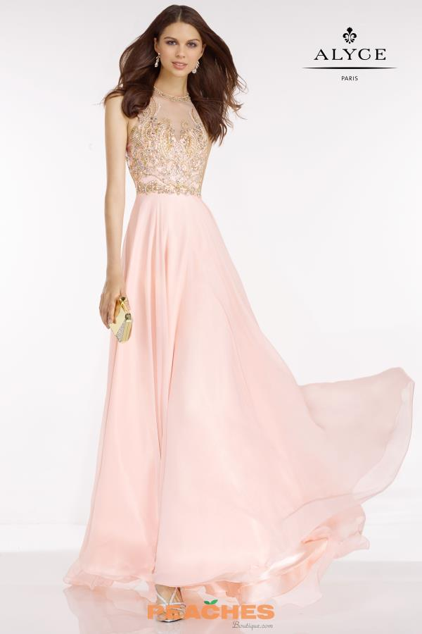 Long A Line Alyce Paris Dress 6601
