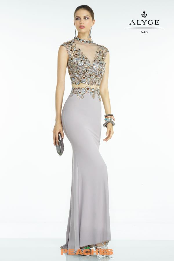 Long Fitted Alyce Paris Dress 6615