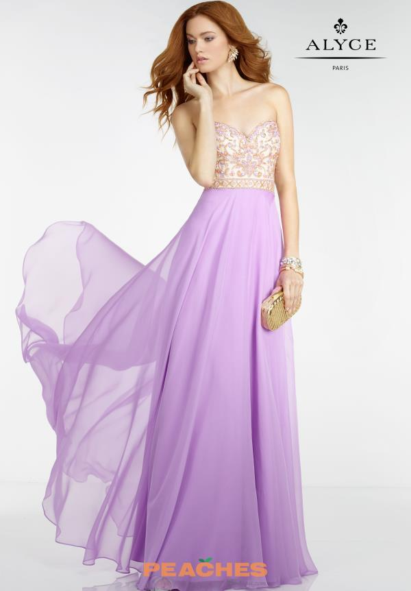 Strapless Beaded Alyce Paris Dress 6508