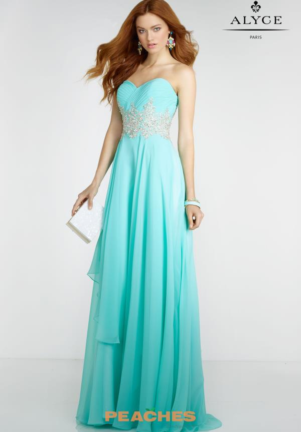 Alyce Paris Sweetheart Neckline Long Dress 6519