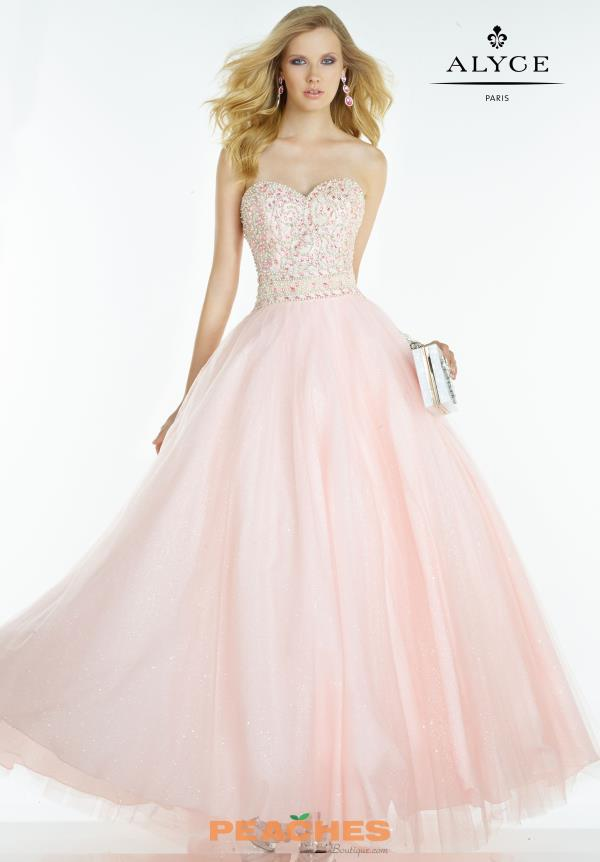 Beaded Alyce Paris Ball Gown Dress 6609