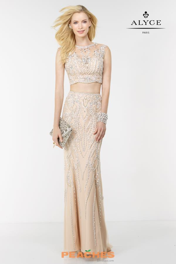 Two Piece Fitted Alyce Paris Dress 6611