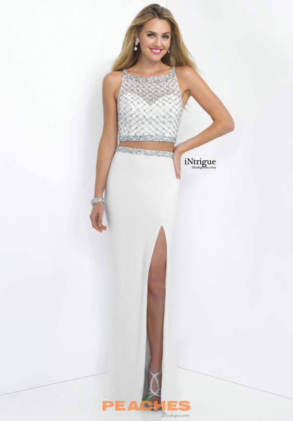 Intrigue by Blush Beaded Long Dress 141
