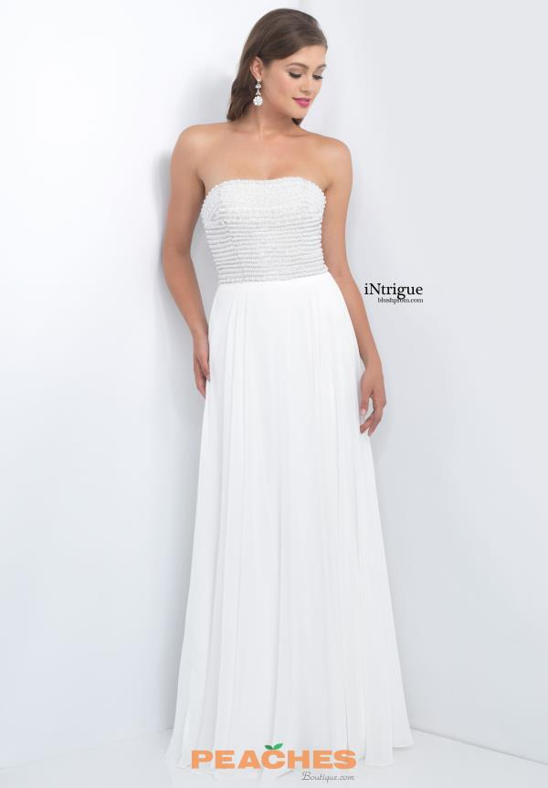 Strapless Beaded Intrigue by Blush Dress 159