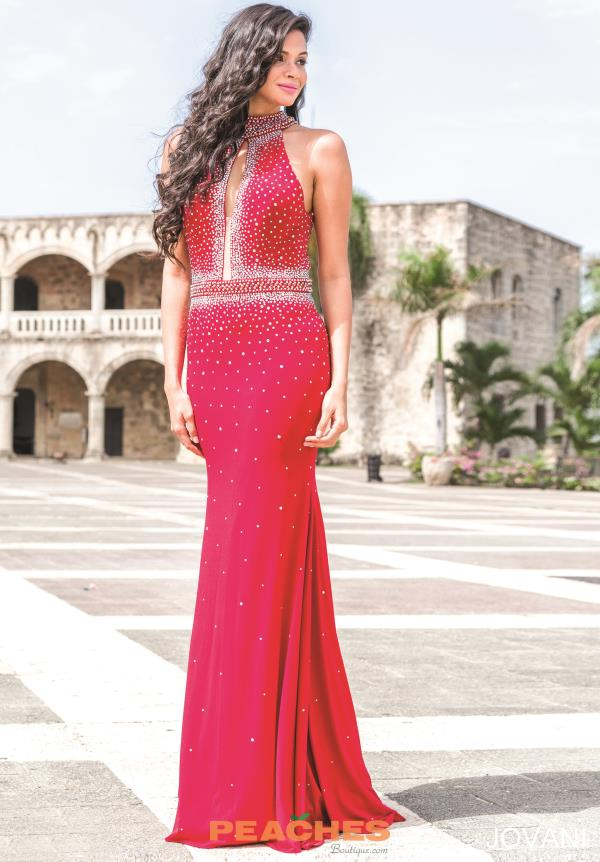Jovani Beaded Jersey Dress 22750
