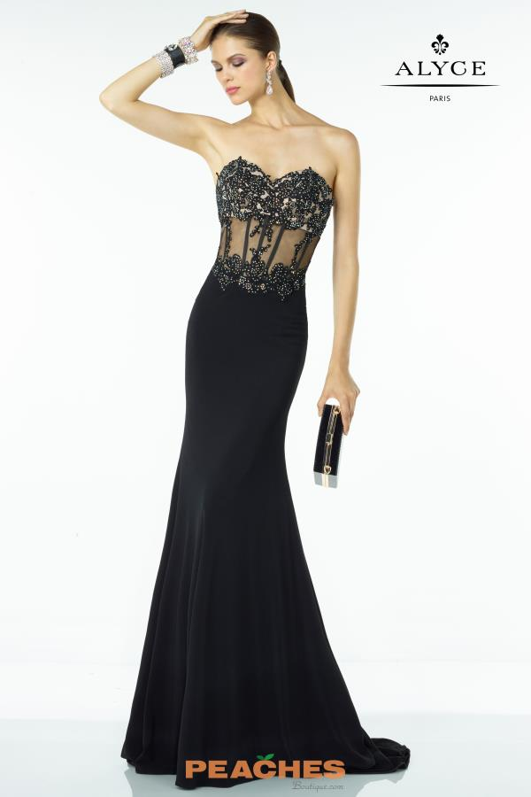 B'Dazzle Navy Fitted Sheer Corset Dress 35788