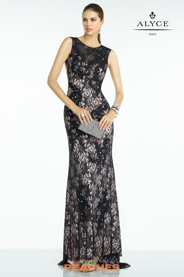 B'Dazzle Black Fitted Dress 35792