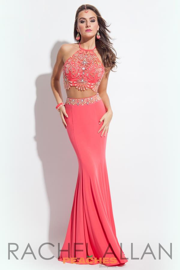 Beaded Crop Top Rachel Allan Princess Dress 2030