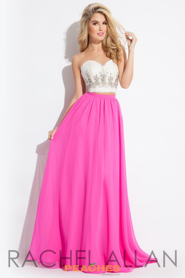 Two Piece Rachel Allan Princess Prom Dress 2037