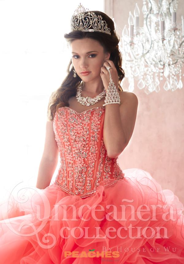 Tiffany Tulle Beaded Quinceanera Dress 26820