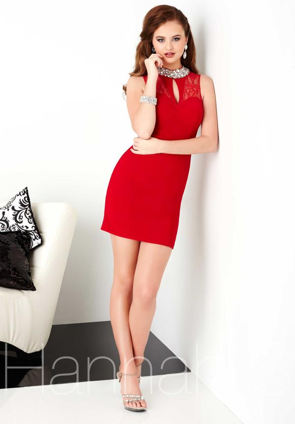 Hannah S Fitted Jersey Dress 27025