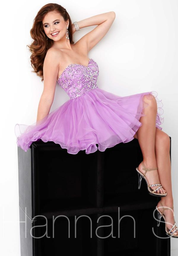 Strapless Chiffon Hannah S Dress 27034