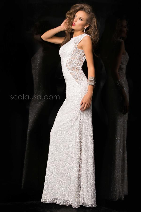 Scala Long Sequins Dress 48467