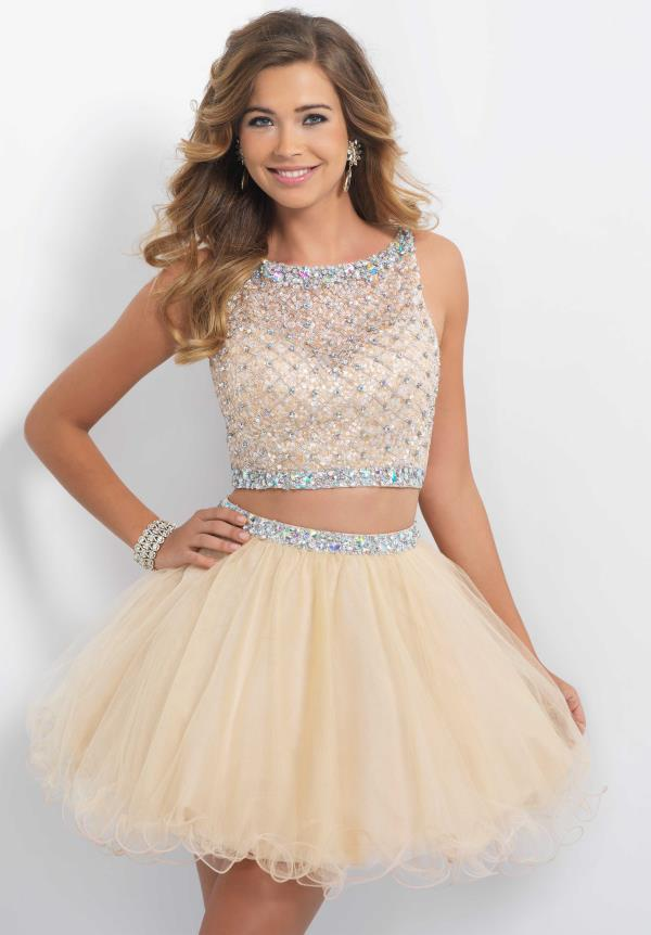 Blush Two Piece Tulle Dress 10054