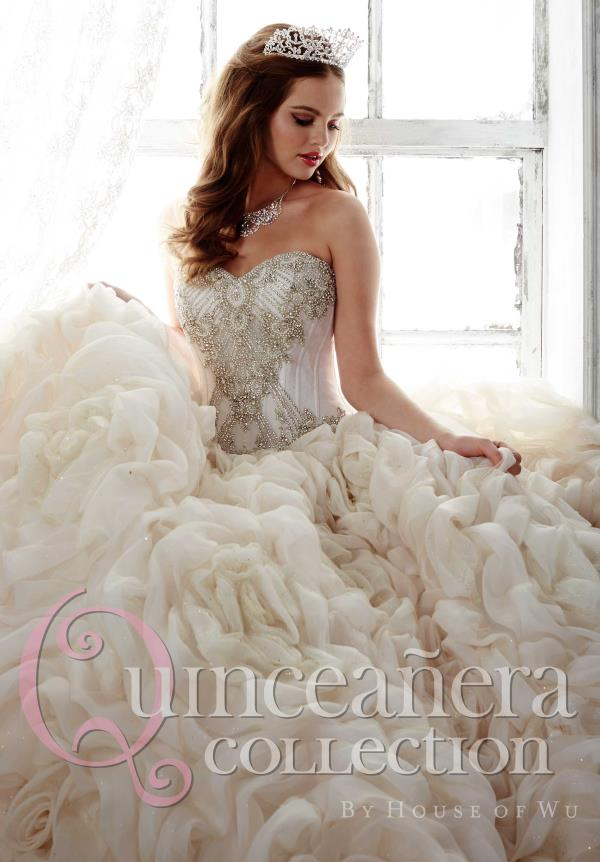 Tiffany Quinceanera Beaded Tulle Dress 26800