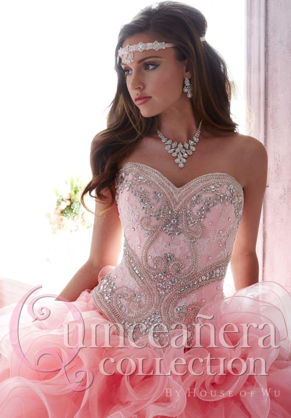 Tiffany Beaded Lace Quinceanera Dress 26801
