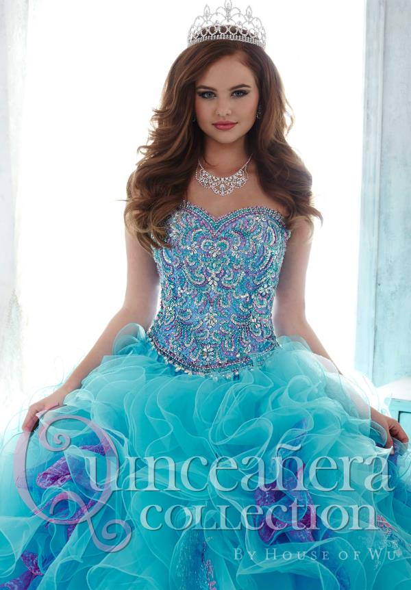 Tiffany Quinceanera Beaded Tulle Dress 26804