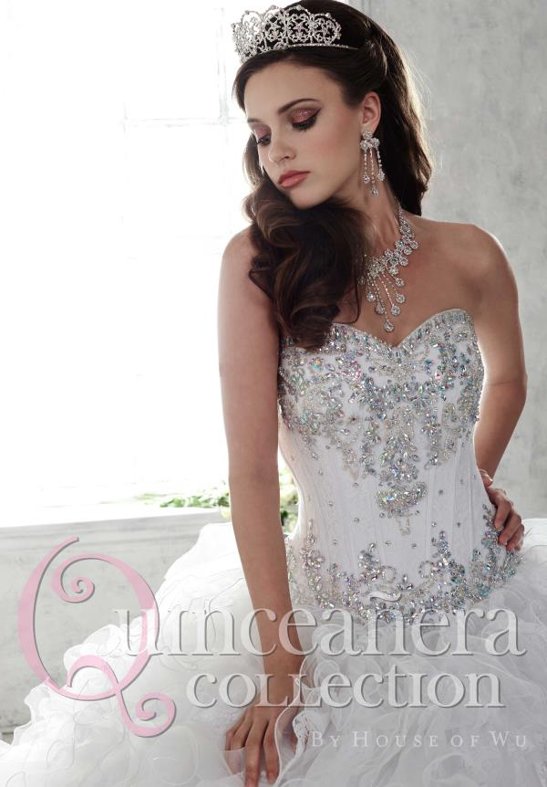 Tiffany Beaded Lace Quinceanera Dress 26808