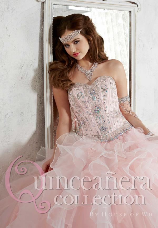 Tiffany Beaded Tulle Quinceanera Dress 26811