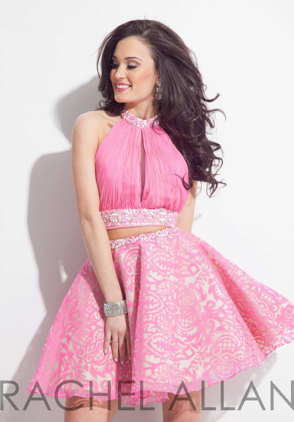 Amazing Two Piece Rachel Allan Dress 4001