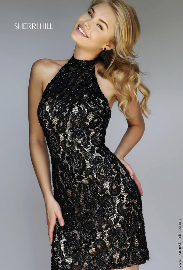Sherri Hill Short Open Back Lace Dress 1968