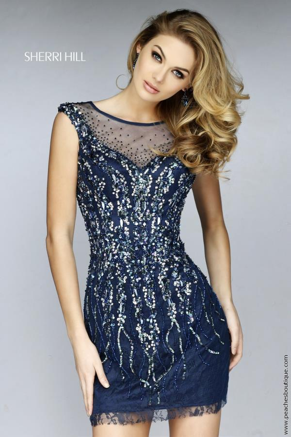 Sherri Hill Short Sequins Fitted Dress 9749