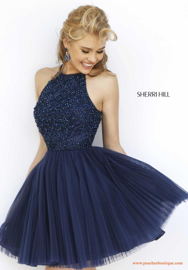 Hill Short Halter Top Semi Formal Dress 32335