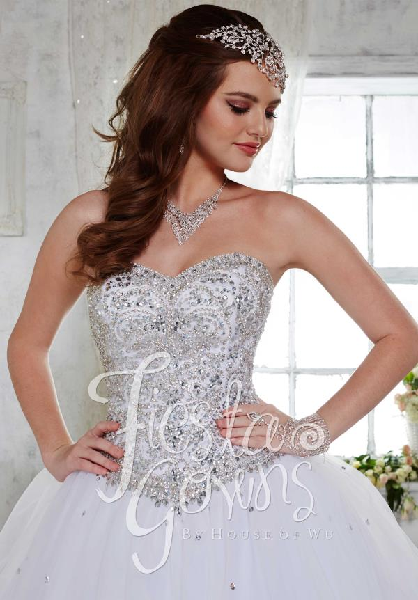 Tiffany Sweatheart Beaded Quince Dress 56276