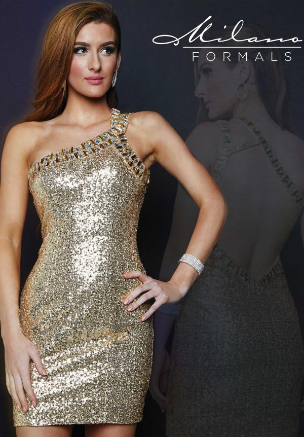Milano Formals Sexy Back Gold Dress E1684