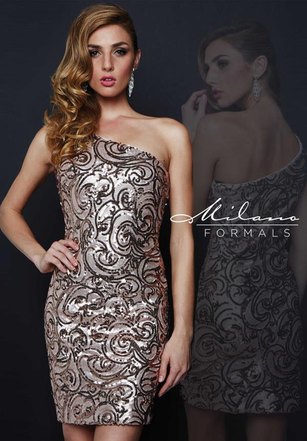 Milano Formals Fitted One Straps Dress E1709