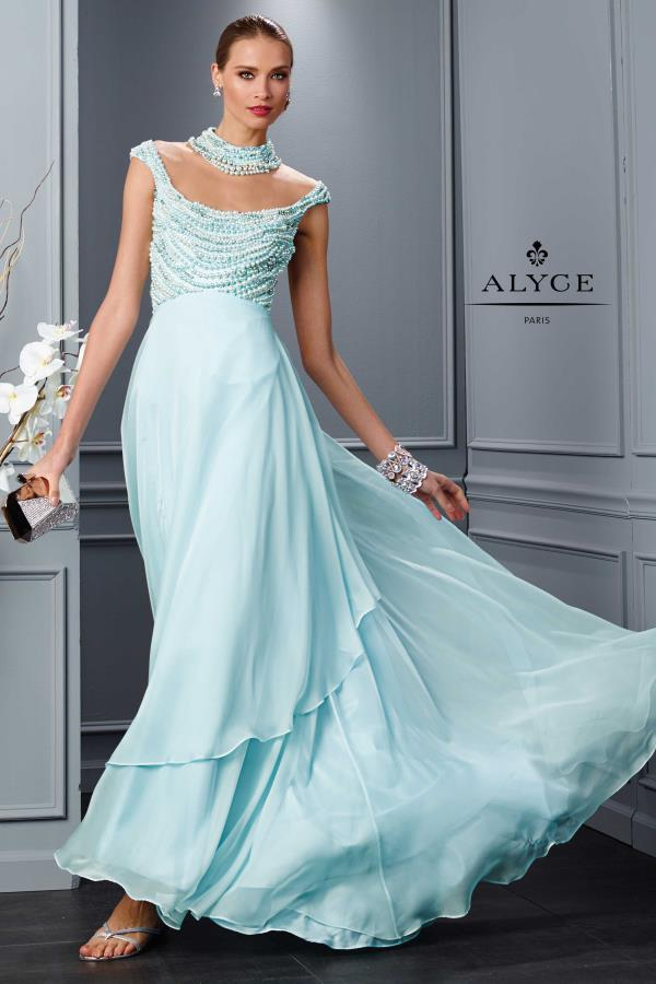 Alyce Paris Long Chiffon Dress 2487