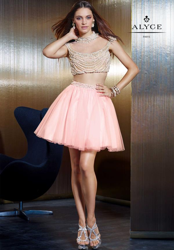 Alyce Short Two Piece Tulle Dress 2485