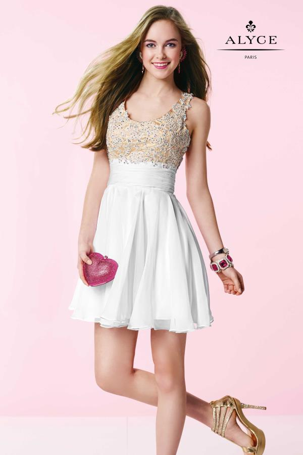 Alyce Short Two Straps Beaded Dress 3639