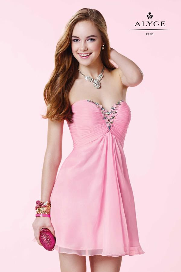 Alyce Short Strapless A Line Dress 3668