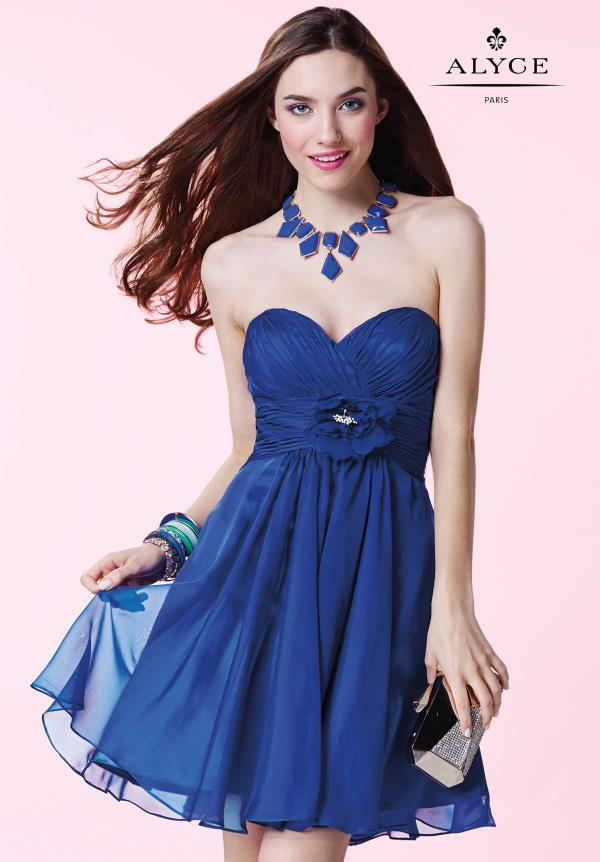 Amazing Strapless Alyce Short Dress 3675