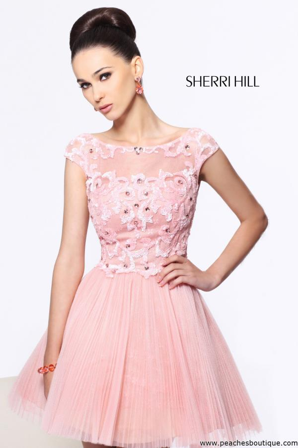 Sherri Hill Short Beaded Dress 21032