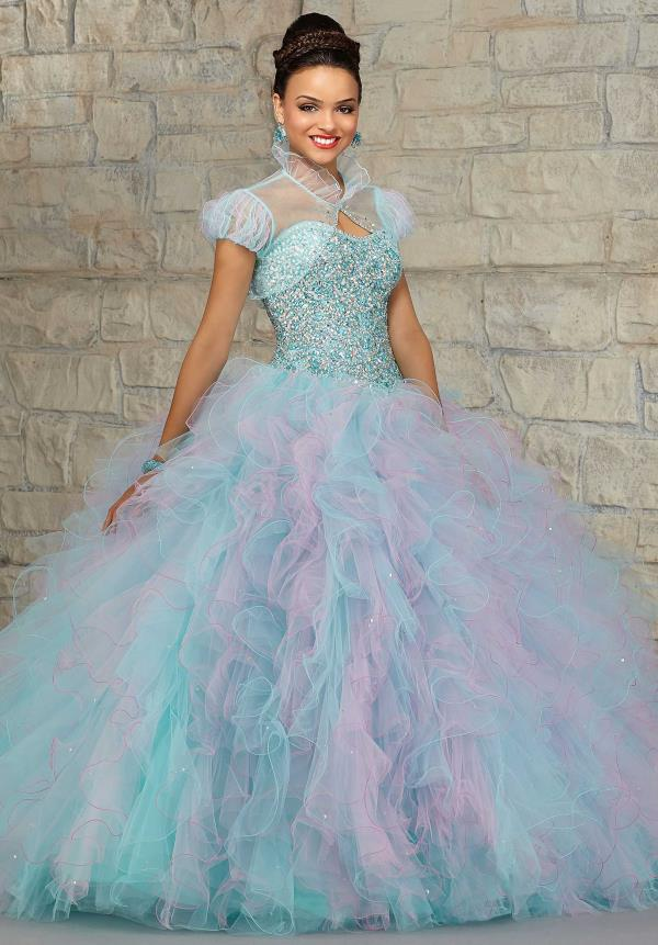Vizcaya Tulle Skirt Quinceanera Dress 89021