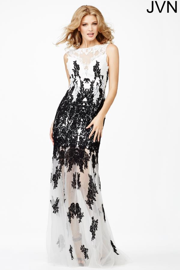 JVN by Jovani Long Lace Dress JVN26974