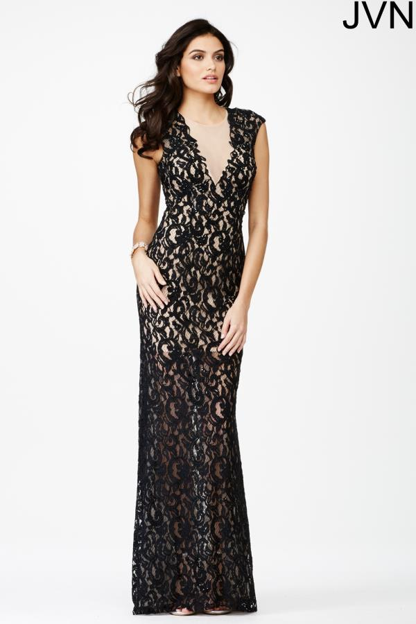 JVN by Jovani Lace Fitted Dress JVN27505