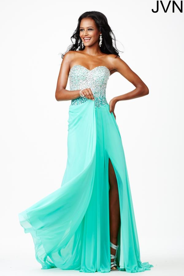 JVN by Jovani Chiffon A Line Dress JVN27611
