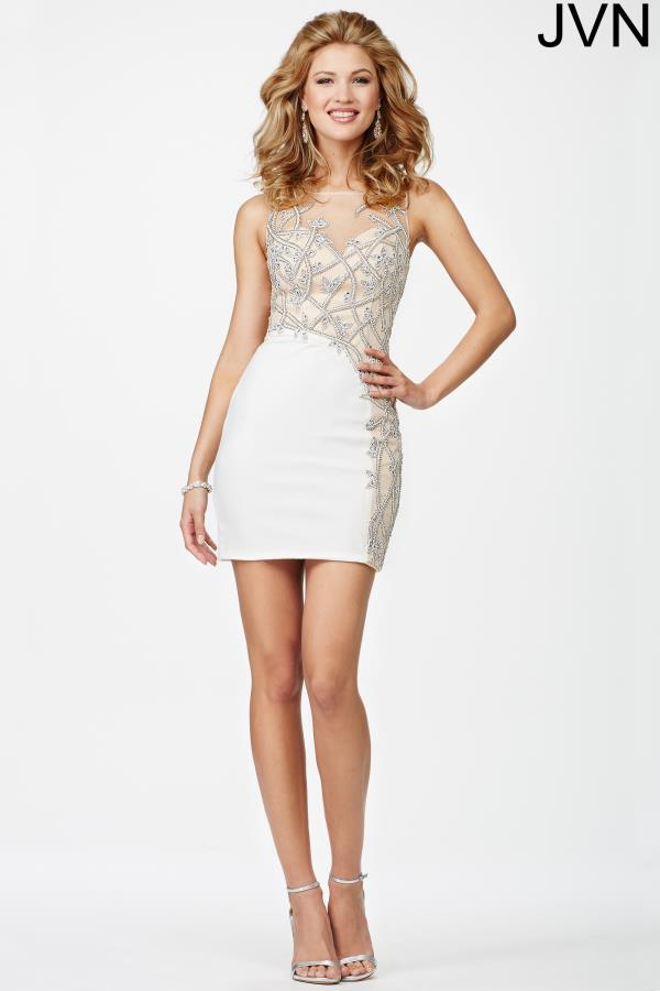 JVN by Jovani High Neckline Beaded Dress JVN27941