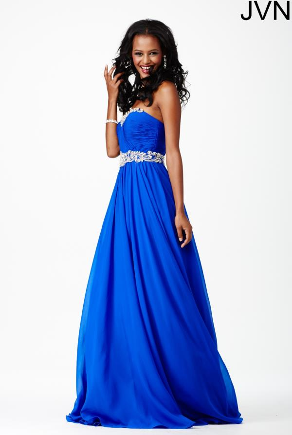JVN by Jovani Chiffon A Line Dress JVN28801